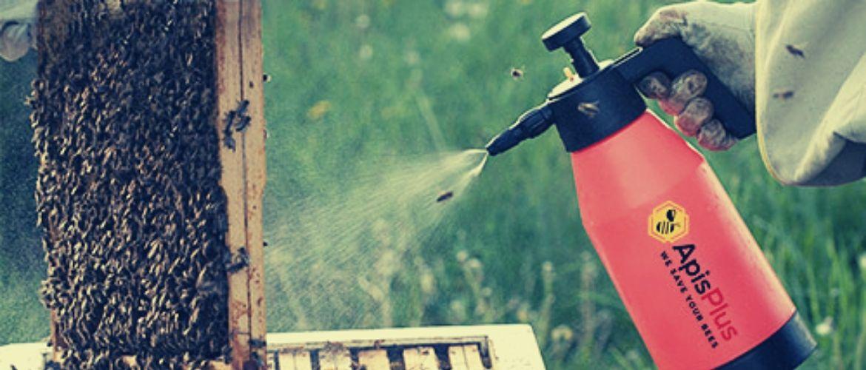 опрыскивание пчел раствором бипина от варроатоза