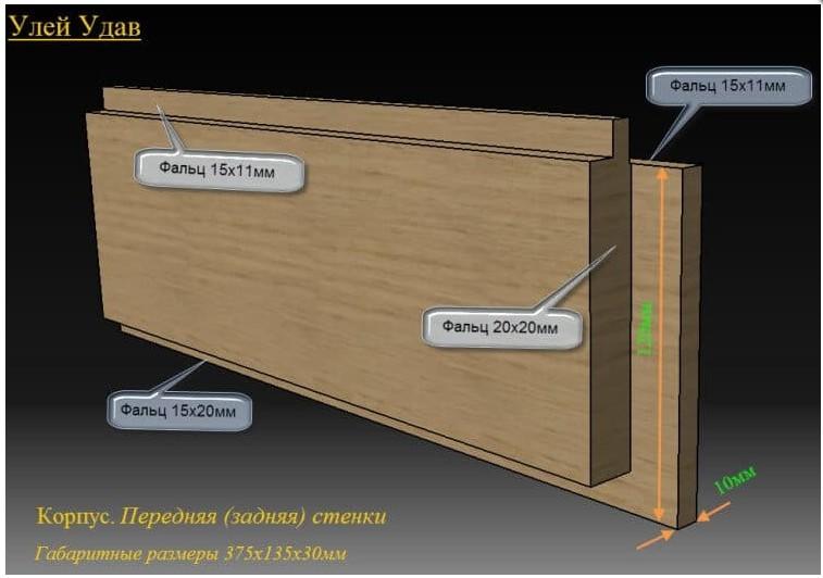 Эскизы передней и задней стенок Удава