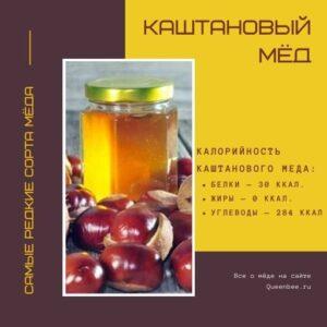 Сорта меда: Каштановый мёд